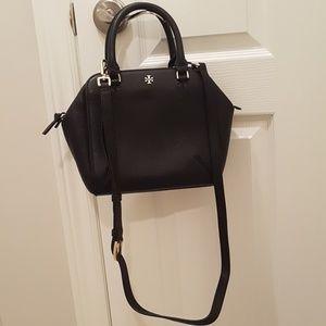Tory Borch black leather crossbody handbag